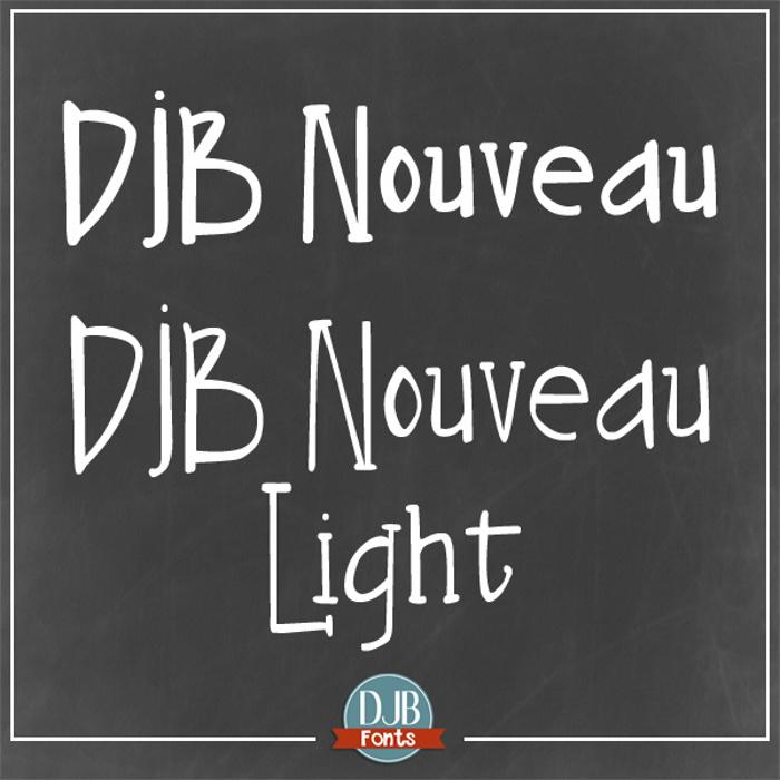 DJB Nouveau Font poster