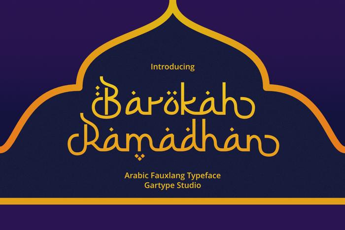 Barokah Ramadhan Font poster