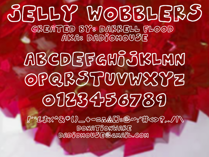 Jelly Wobblers Font poster