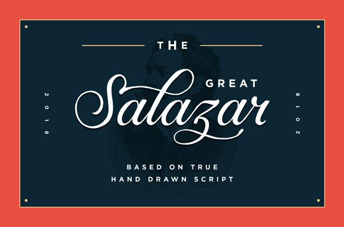 Salazar Font poster