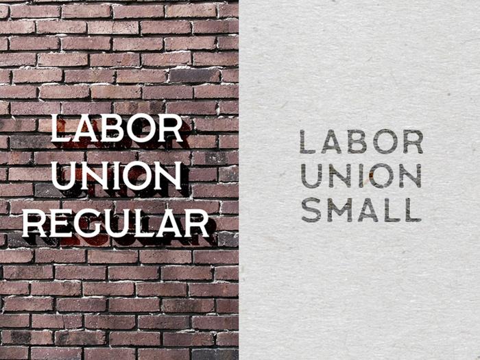 Labor Union Font poster