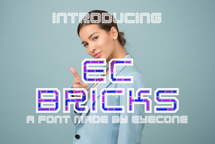 EC Bricks Font poster