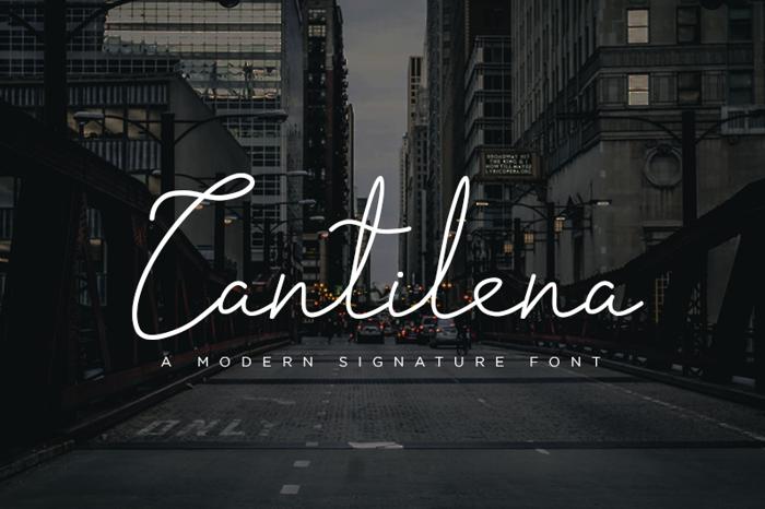 cantilena Font poster