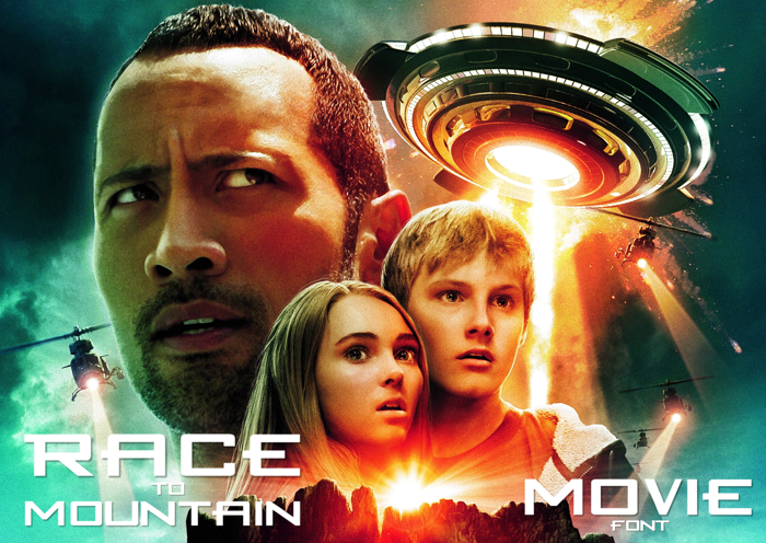 RACE to MOUNTAIN Font poster