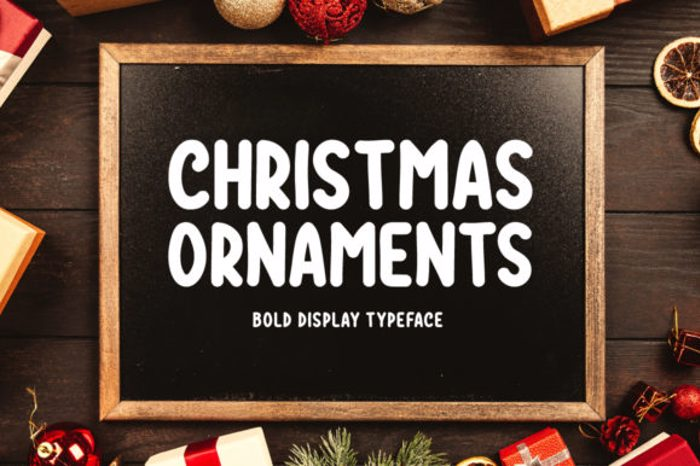 Christmas Ornaments Font poster
