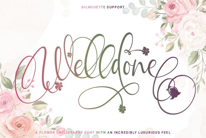 Welldone Font poster