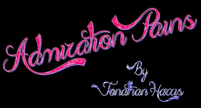 Admiration Pains  Font poster