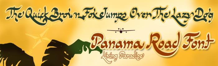 Panama Road Font poster