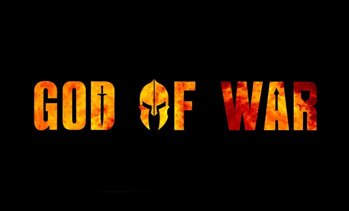 god of war Font poster