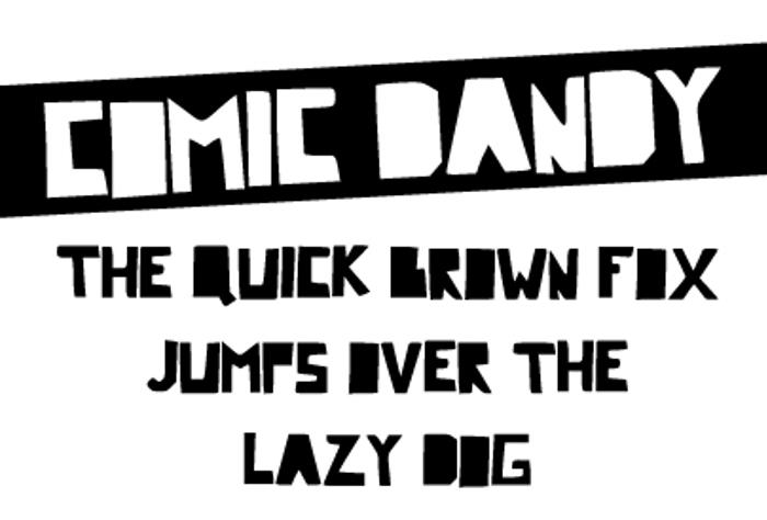 Comic Dandy Font poster