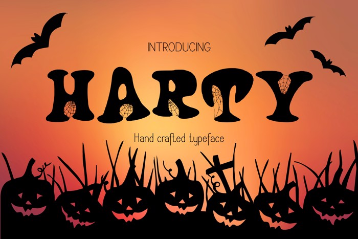 Harty Font poster