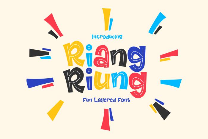 Riangriung Font poster