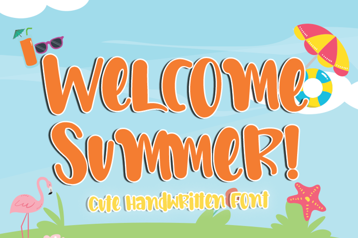 Welcome Summer Font poster
