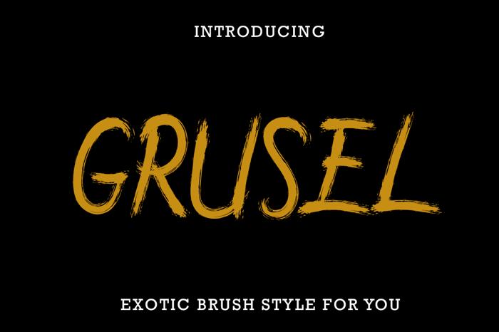 Grusel Hand Brush Font poster