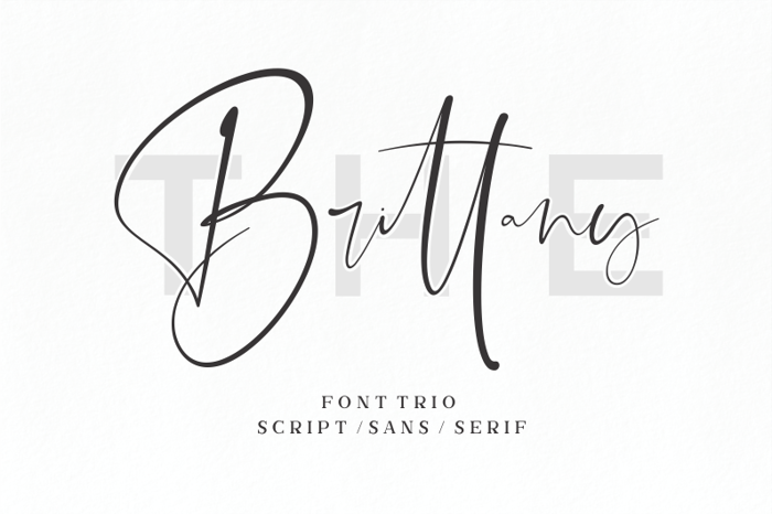 The Brittany Script Font poster