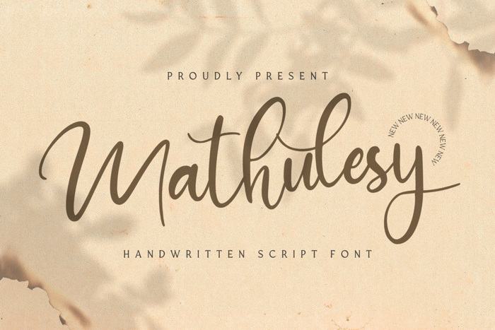 mathulesy Font poster