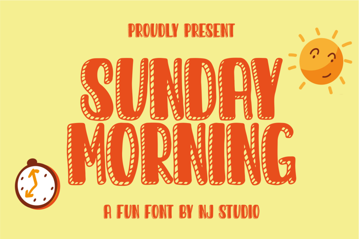 Sunday Morning Font poster