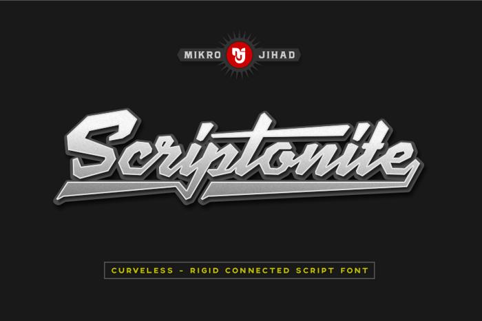 Scriptonite Font poster