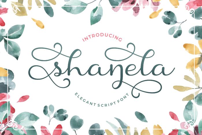 Shanela Font poster