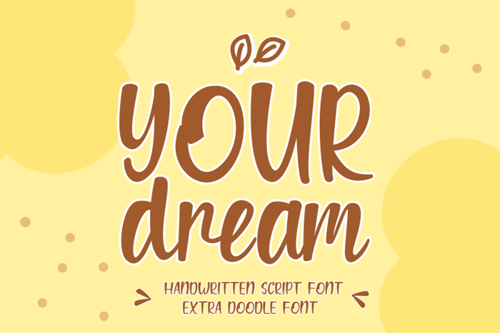 Your dream Font poster