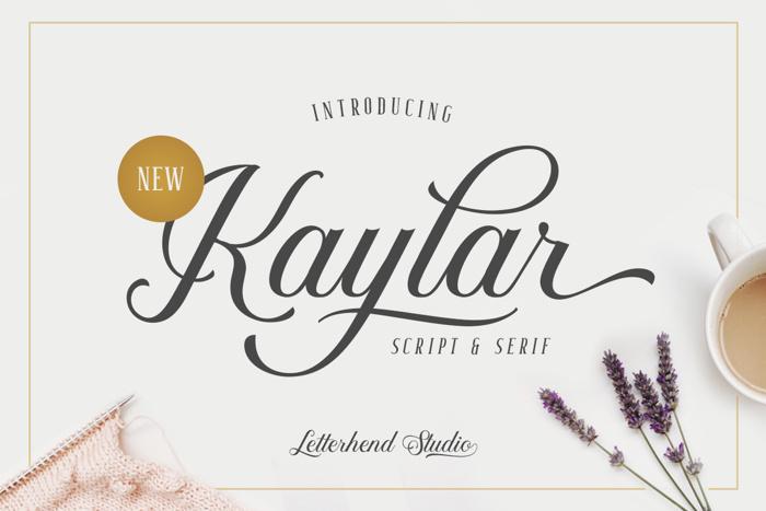 Kaylar DEMO Font poster