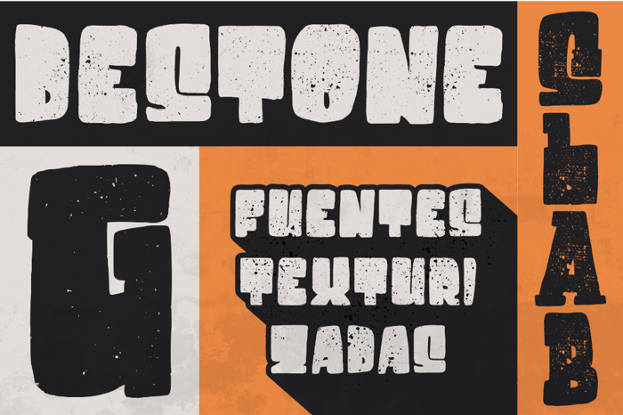 Destone Font poster