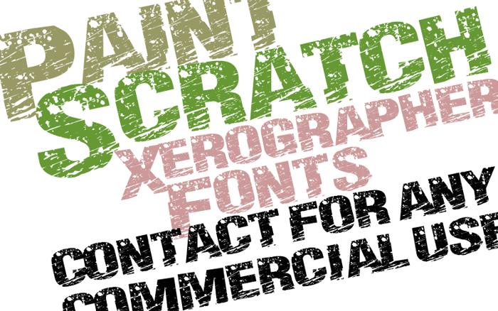 PaintScratch Font poster
