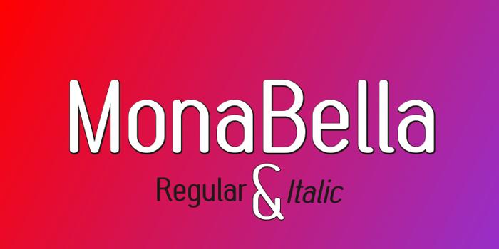 MonaBella Font poster
