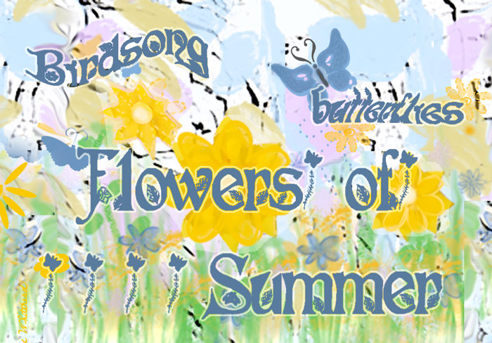 Flowers of Summer Font poster