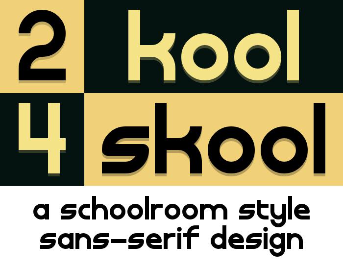 2K4S Font poster