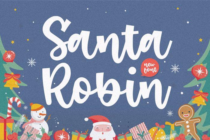Santa Robin Font poster