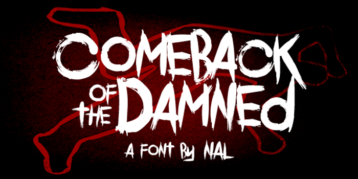 Comeback Of The Damned Font poster