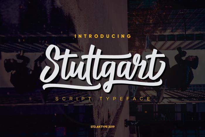 Stuttgart DEMO Font poster