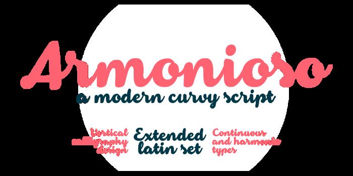Armonioso Font poster