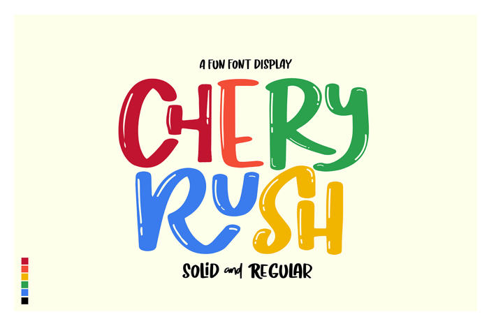 Chery Rush Demo Font poster