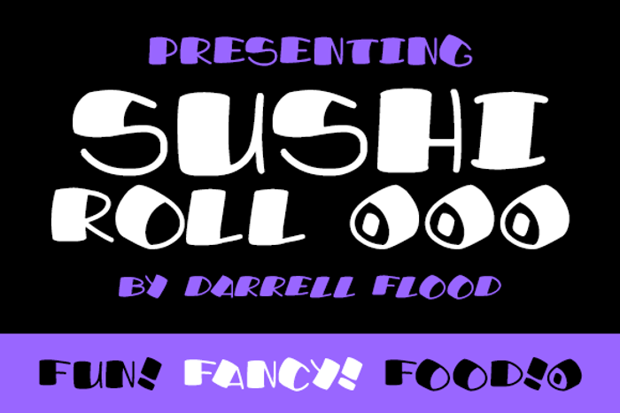 Sushi Roll Font poster