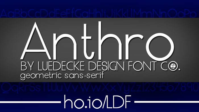 Anthro Font poster