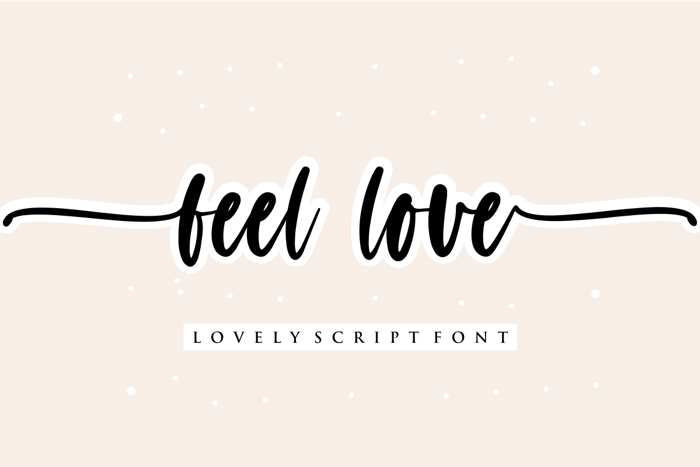 feel love Font poster