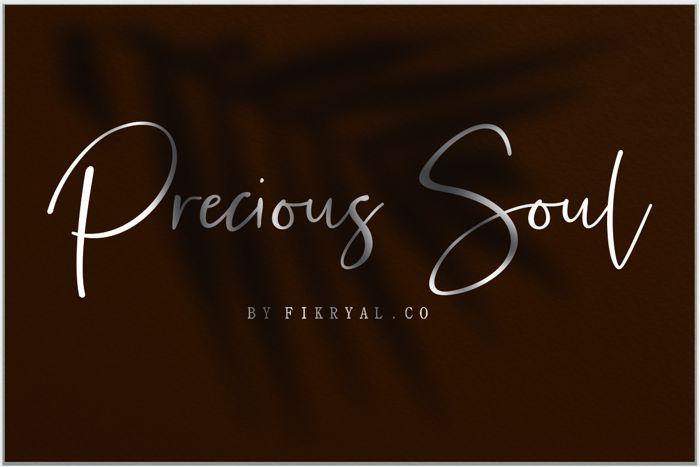 Precious Soul Font poster