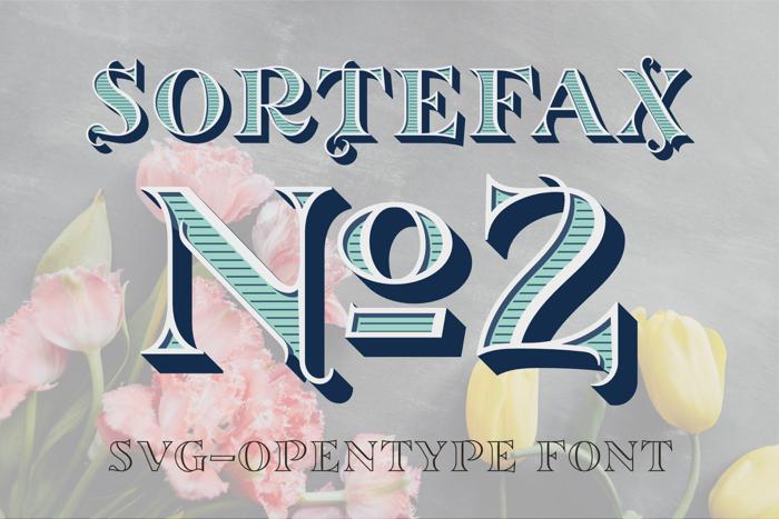 Sortefax No2 Font poster
