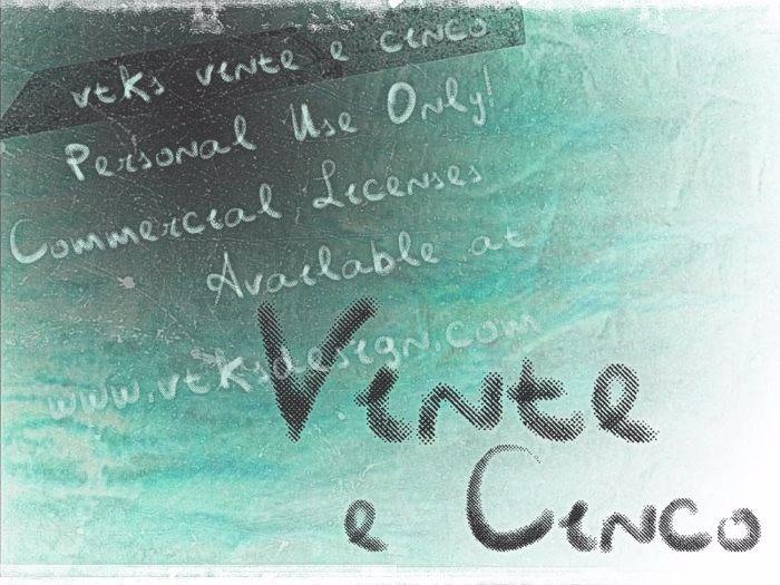 Vtks Vinte e Cinco Font poster