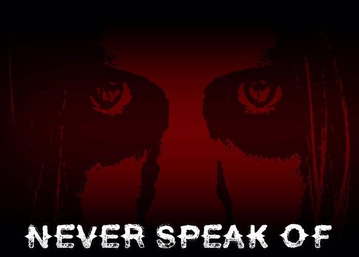 Never Speak Of Font poster