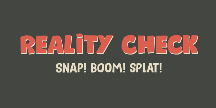 Reality Check II Font poster