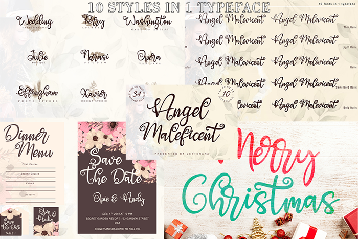 Angel Maleficent Font poster