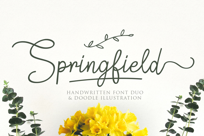Springfield Font poster