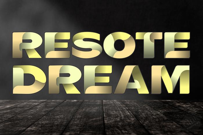 ResotE Dream Font poster
