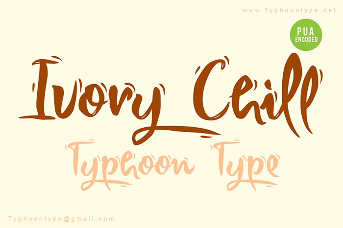 Ivory Chill Font poster