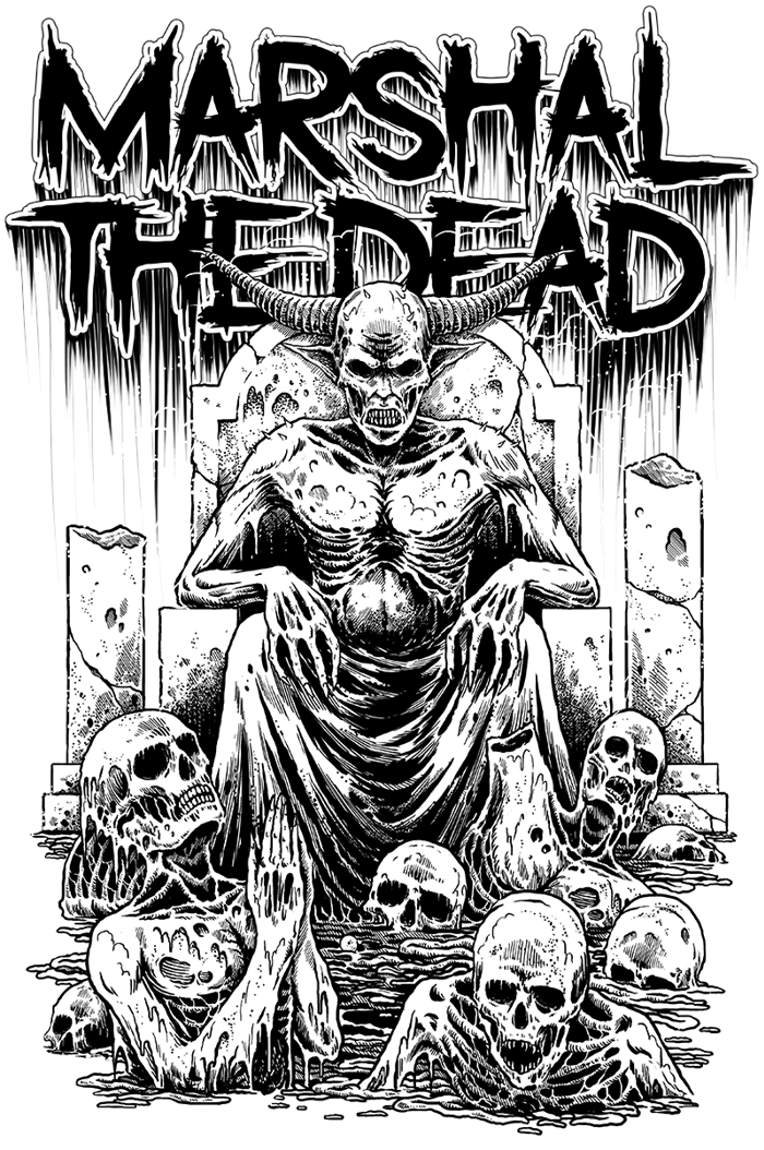 Marshal The Dead Font poster