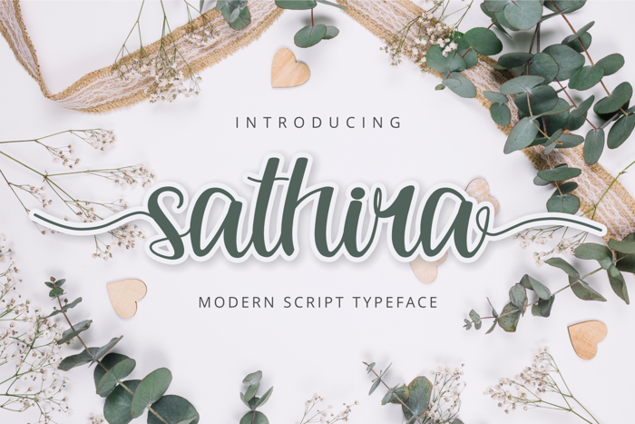 Sathira Font poster