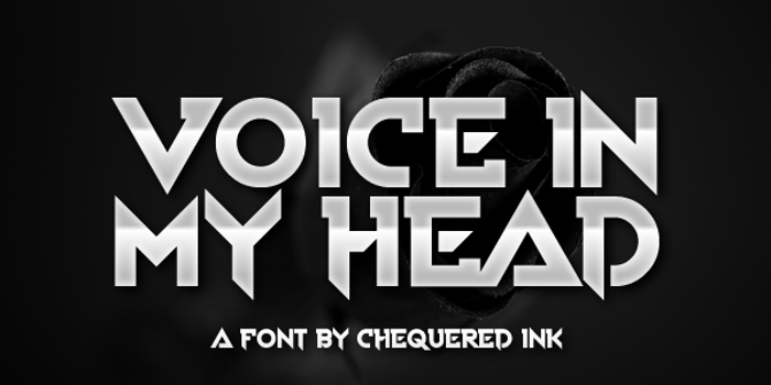 Voice In My Head Font poster